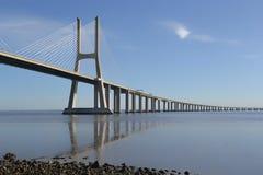 Gama του Vasco DA Ponte γέφυρα Πορτογαλία Στοκ φωτογραφία με δικαίωμα ελεύθερης χρήσης