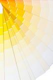 Gama amarilla y anaranjada del color Foto de archivo