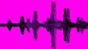 Gama audio torcida de la forma de onda Imágenes de archivo libres de regalías