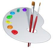 Gama de colores aislada del artista ilustración del vector