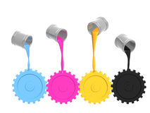 Gama de colores CMYK Foto de archivo libre de regalías