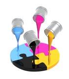 Gama de colores CMYK Imagen de archivo libre de regalías