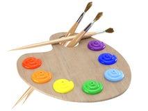 Gama de colores con la petróleo-pintura Imagen de archivo libre de regalías