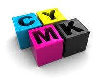 Gama de colores de Cmyk Foto de archivo libre de regalías