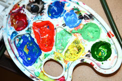 Gama de colores de color de la pintura Imágenes de archivo libres de regalías