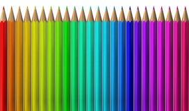 Gama de colores de color del lápiz Fotografía de archivo