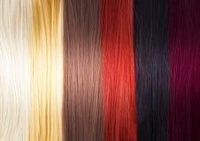 Gama de colores de colores del pelo Foto de archivo