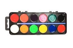 Gama de colores de la acuarela. Fotografía de archivo