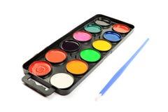 Gama de colores de la acuarela. Imagenes de archivo