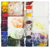 Gama de colores de la acuarela Imagen de archivo libre de regalías