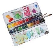 Gama de colores de la pintura del Watercolour Imagen de archivo libre de regalías