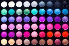 Gama de colores de la sombra de ojo imágenes de archivo libres de regalías