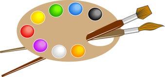 Gama de colores de los artistas stock de ilustración
