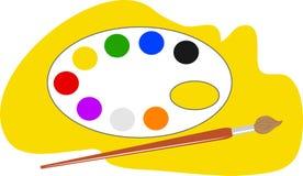 Gama de colores de los artistas Foto de archivo libre de regalías