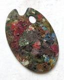 Gama de colores de los pintores Fotos de archivo