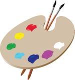 Gama de colores del artista stock de ilustración