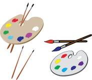 Gama de colores del artista ilustración del vector
