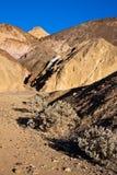 Gama de colores del artista en Death Valley Imagen de archivo
