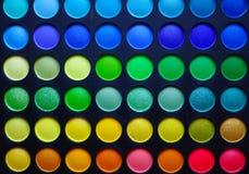 Gama de colores del maquillaje Imagen de archivo