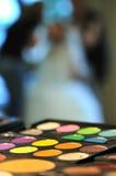 Gama de colores del maquillaje Fotografía de archivo libre de regalías