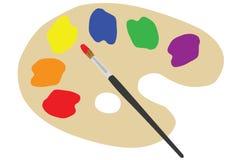 Gama de colores del pintor Fotografía de archivo