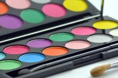 Gama de colores del sombreador de ojos Imagen de archivo libre de regalías