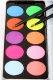 Gama de colores del sombreador de ojos Imagen de archivo