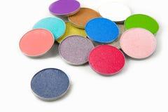 Gama de colores del sombreador de ojos Fotos de archivo