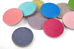 Gama de colores del sombreador de ojos Fotografía de archivo