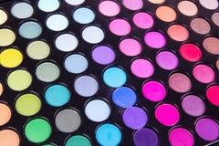 Gama de colores multicolora profesional de los sombreadores de ojos Foto de archivo libre de regalías