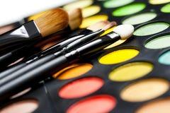 Gama de colores profesional del maquillaje Foto de archivo libre de regalías