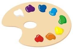 Gama de colores-siete-colores stock de ilustración
