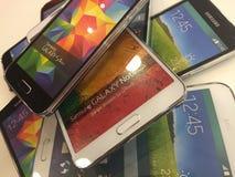 Gama de la galaxia de Samsung Imagenes de archivo