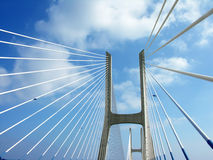 GAMA de Ponte Vasco DA, passerelle à Lisbonne Images libres de droits