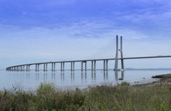 Gama de Vasco DA del puente Foto de archivo libre de regalías