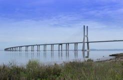 Gama de Vasco a Dinamarca da ponte Foto de Stock Royalty Free
