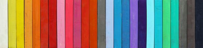 Gama del color - detalle de los pasteles coloreados Fotografía de archivo libre de regalías