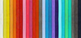 Gama del color - detalle de los pasteles coloreados Imagen de archivo
