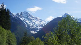 Gama del norte de Moutain de la cascada, Washington State, los E.E.U.U. Foto de archivo libre de regalías