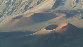 Gama del volcán de Haleakala almacen de video