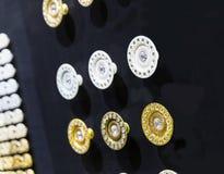 Gama grande de manijas del metal Imagen de archivo