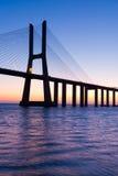 Gama Lisboa Portugal de Vasco a Dinamarca da ponte Foto de Stock Royalty Free