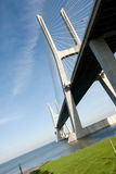 Gama van Vasco DA brug Stock Foto's
