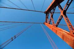 Gama van Vasco DA brug bij schemer Stock Afbeeldingen