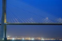 Gama van Vasco DA brug, Grootste brug van Europa Royalty-vrije Stock Foto
