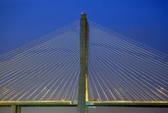 Gama van Vasco DA brug, Grootste brug van Europa Stock Foto