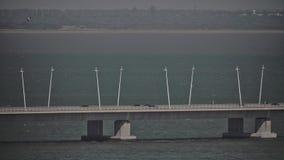 Gama van Vasco DA Brug in Lissabon, Portugal stock videobeelden
