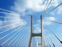 Gama van Vasco DA van Ponte, brug in Lissabon Royalty-vrije Stock Afbeeldingen