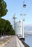 Gama Vasco da башни, Лиссабон, Португалия стоковое фото