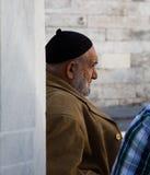 Gamal man i Istanbul. Fotografering för Bildbyråer